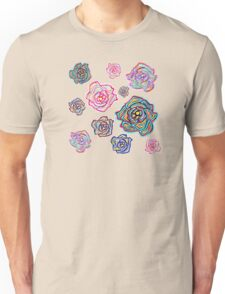 Pretty blue and pink floral print. <3 Unisex T-Shirt