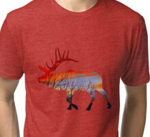 Sunset elk  Tri-blend T-Shirt