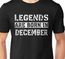 Legends Are Born In DECEMBER Vintage Shirt Unisex T-Shirt