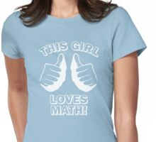 This Girl Loves Math Womens Fitted T-Shirt