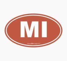 Michigan MI Euro Oval ORANGE by USAswagg