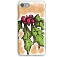 Holiday Holly iPhone Case/Skin
