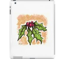 Holiday Holly iPad Case/Skin