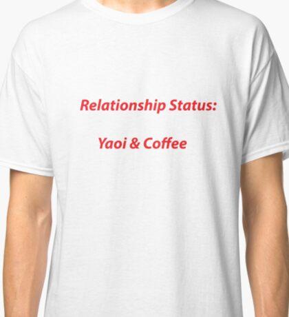 Red- Yaoi & Coffee Classic T-Shirt