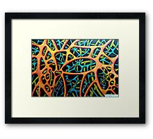408 - ABSTRACT DESIGN IN LAYERS - DAVE EDWARDS -  MIXED MEDIA - 2014 Framed Print