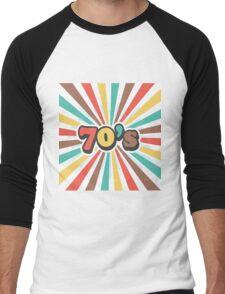 70s Men's Baseball ¾ T-Shirt