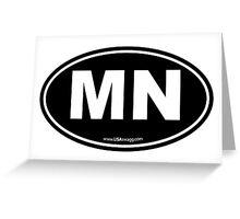 Minnesota MN Euro Oval Greeting Card