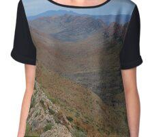 West Macdonnell Range from Larapinta trail Chiffon Top