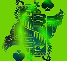 Hooty Hoo 506 - King Of Spades (Emerald) by Scarecrow506