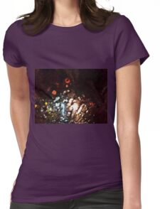 Abstract City Traffic Womens Fitted T-Shirt
