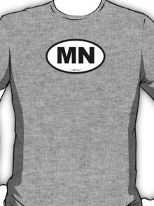 Michigan MI Euro Oval T-Shirt