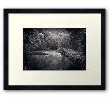 River in Black and Silver Framed Print