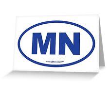 Minnesota MN Euro Oval BLUE Greeting Card