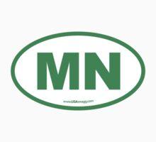 Minnesota MN Euro Oval GREEN by USAswagg
