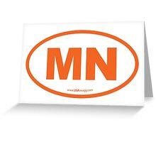 Minnesota MN Euro Oval ORANGE Greeting Card