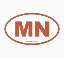 Minnesota MN Euro Oval ORANGE by USAswagg