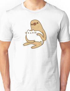 Cute Kawaii Sloth Cat Unisex T-Shirt
