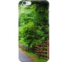 Countryside road through the forest  iPhone Case/Skin