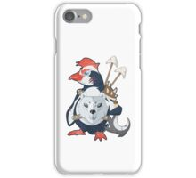 Penguin Warrior - Vector iPhone Case/Skin