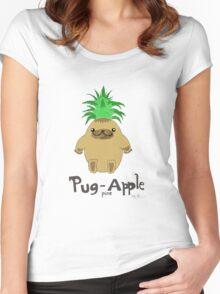 Pug Pine Apple Women's Fitted Scoop T-Shirt