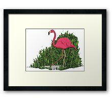 Flamingo Forest Framed Print