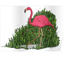 Flamingo Forest Poster