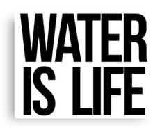 Water is Life Canvas Print
