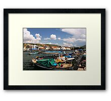 Aegean Fishing Village, Eski Foça 2 Framed Print