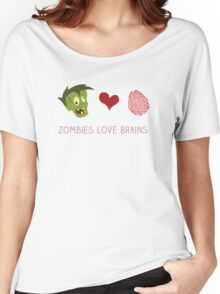 Zombies Love Brains Women's Relaxed Fit T-Shirt