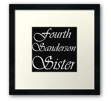 FOURTH SANDERSON SISTER BLK TEE Framed Print
