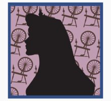 sleeping beauty silhouette  by paperthinwalls