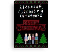MERRY CHRISTMAS - STRANGER THINGS Canvas Print