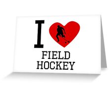 I Heart Field Hockey Greeting Card