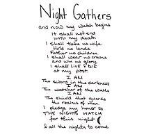 The Nights Watch Pledge Photographic Print