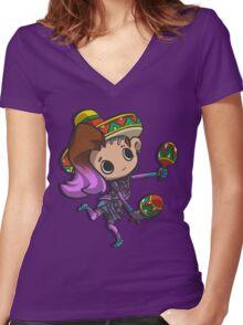 Sombra De Amigo Women's Fitted V-Neck T-Shirt