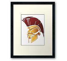 Sparta Helmet Logo Hoodie MMA UFC Boxing Fight Train Fitness Great Gift Idea Framed Print