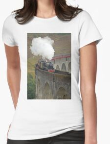 The Jacobite Steam Train Womens Fitted T-Shirt