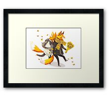Sunflower Foxes Framed Print