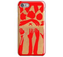 Hands and Stars in Red and Gold iPhone Case/Skin