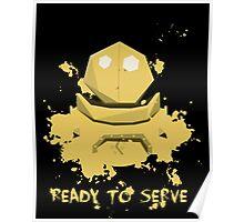 Blitzcrank  Ready To Serve Poster