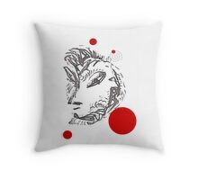 Eurasia with polka dots Throw Pillow