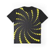 yellow spiral Graphic T-Shirt