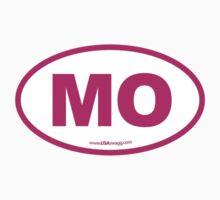 Missouri MO Euro Oval PINK by USAswagg
