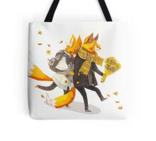 Sunflower Foxes Tote Bag