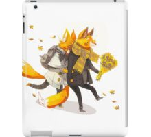 Sunflower Foxes iPad Case/Skin
