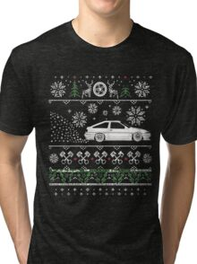 Toyota AE86 Ugly christmas sweater Tri-blend T-Shirt