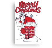 Santa merry christmas T-shirt  Canvas Print