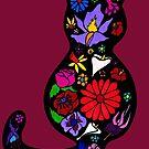 Flower Puss by Anne van Alkemade
