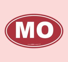 Missouri MO Euro Oval RED Kids Clothes
