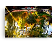 The reflecting pool at WInterthur Canvas Print